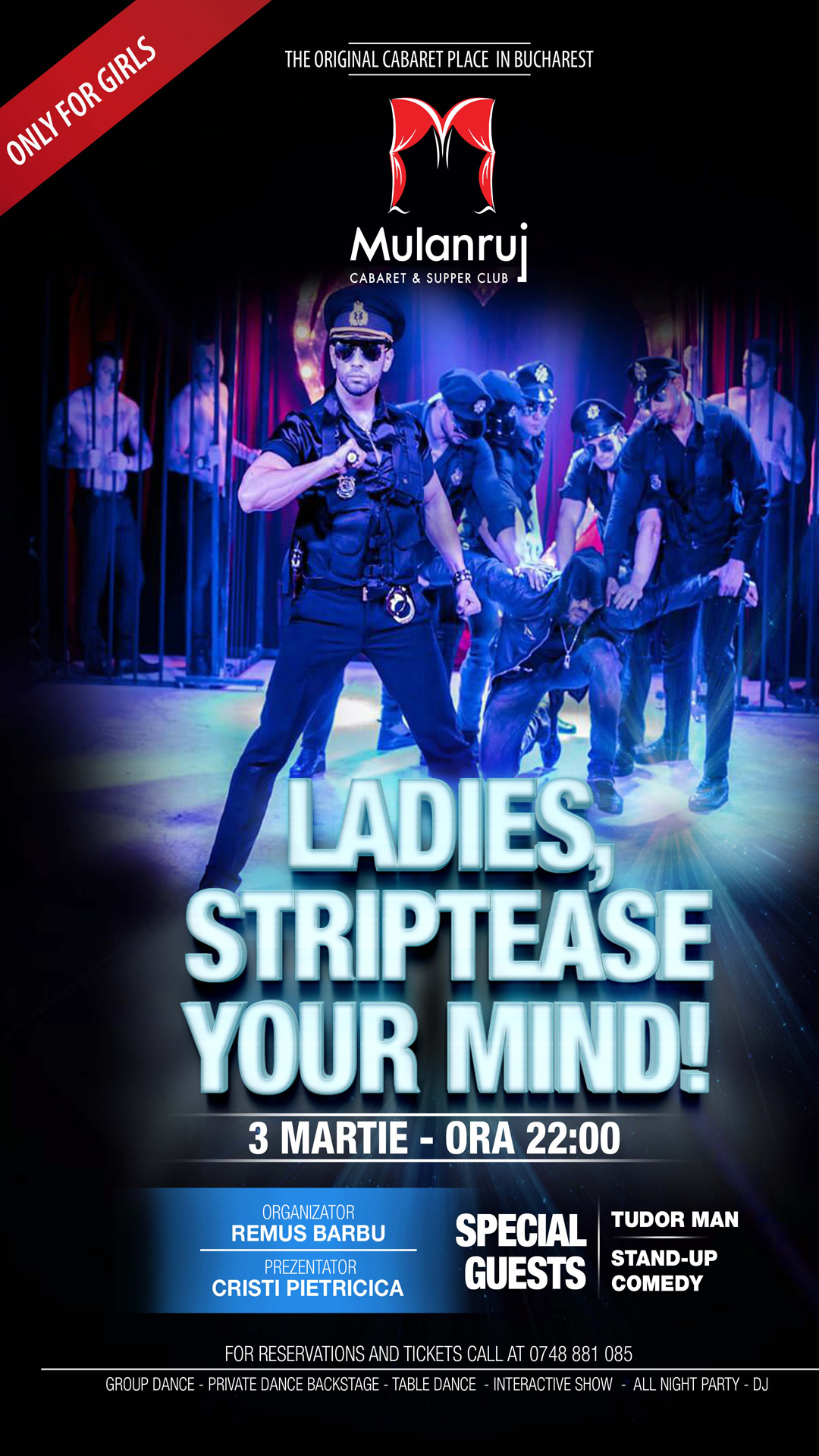 3 Martie 2017    Striptease your Mind ! Male Striptease – only for… Read More