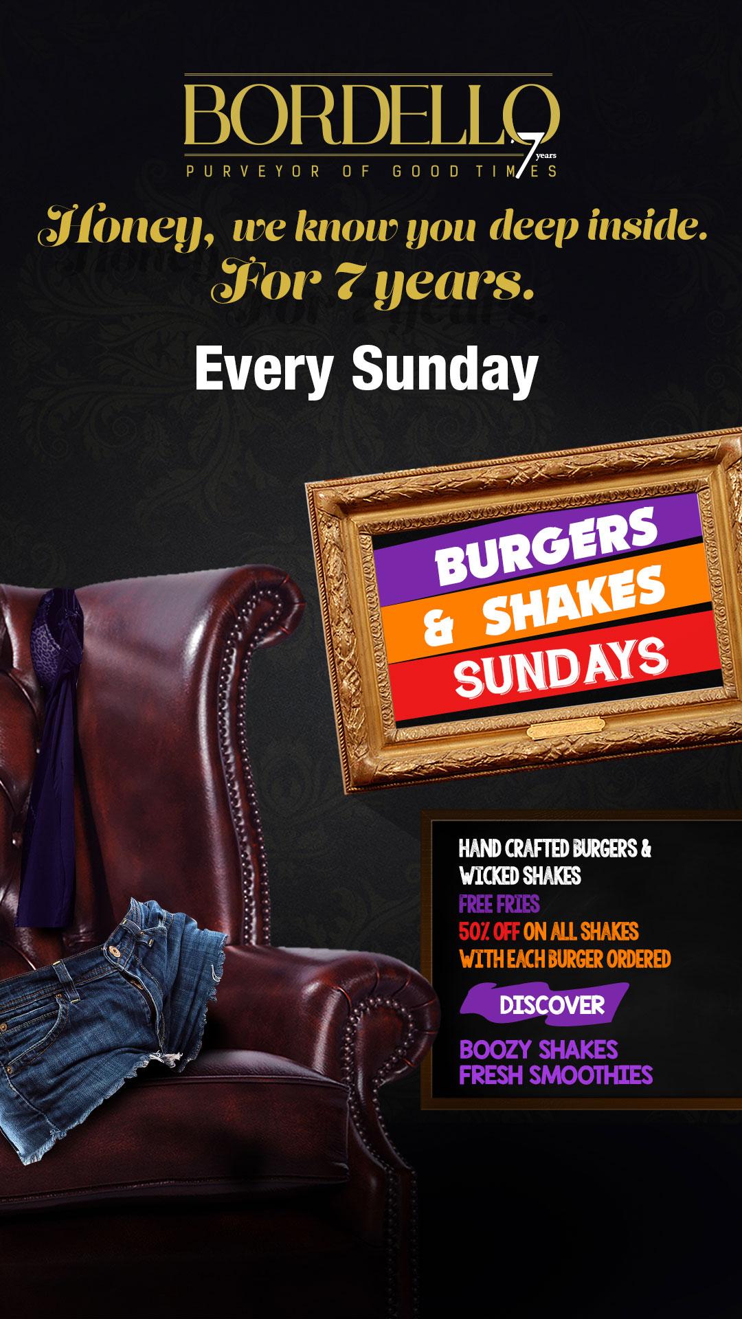 Burgers & Shakes Sundays