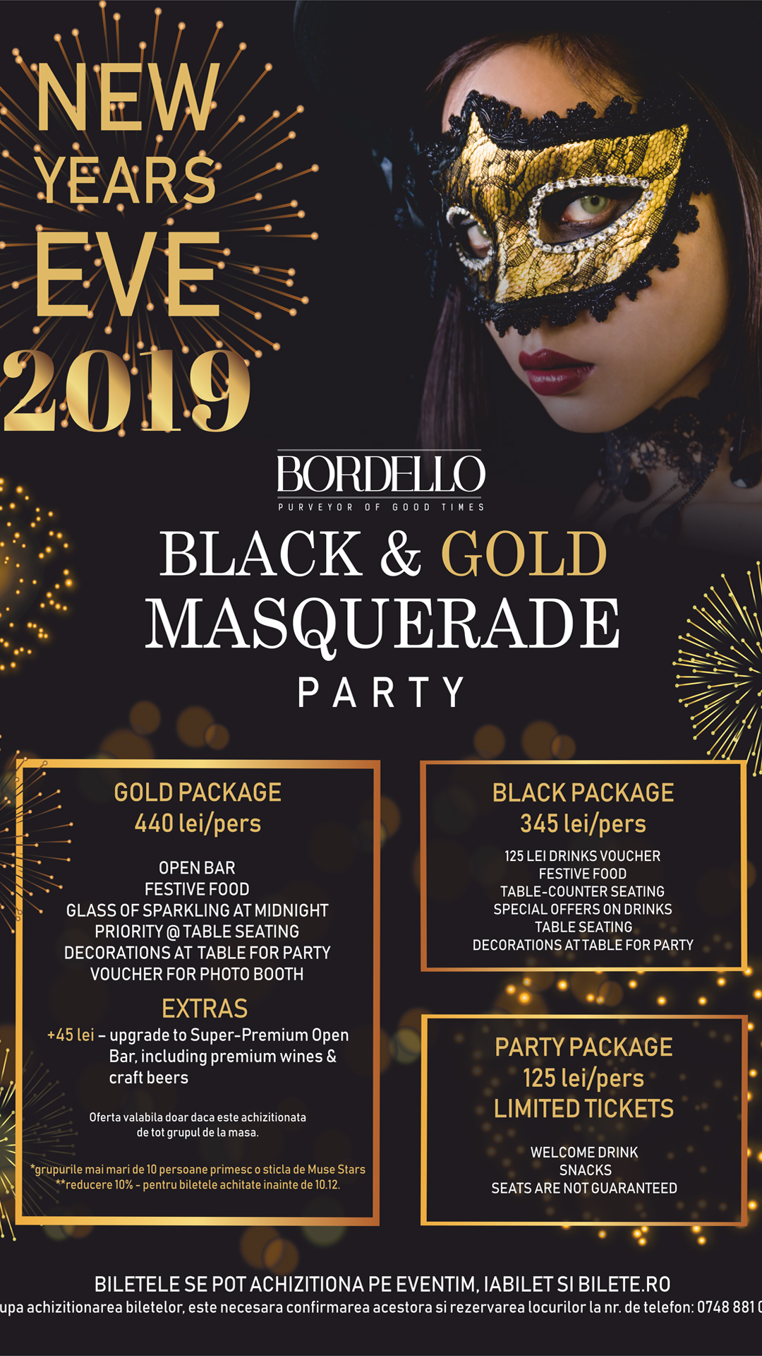 Black & Gold Masquerade Party